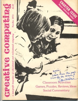 Historical Technology Books:  Creative Computing v01n01 November/December 1974 - 10 in a series