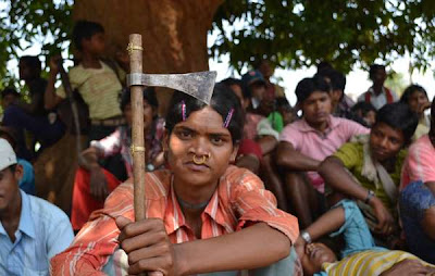 India: native peoples protest against destructive mining operations
