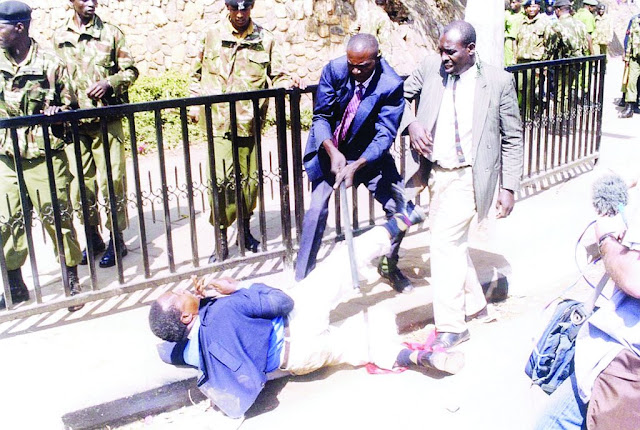 Saba Saba protesters beaten by Police and detained in different police stations in Nairobi photos