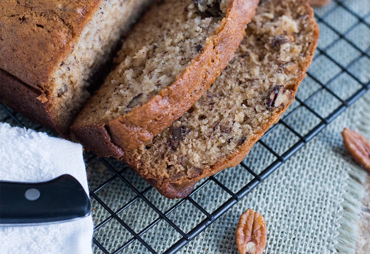 Sour Cream Banana Bread with Toasted Pecans Recipe