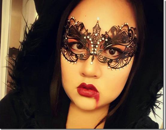 princesa murciélago  maquillaje