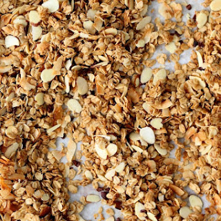 Small-Batch Granola with almond, coconut, and cocoa nibs.