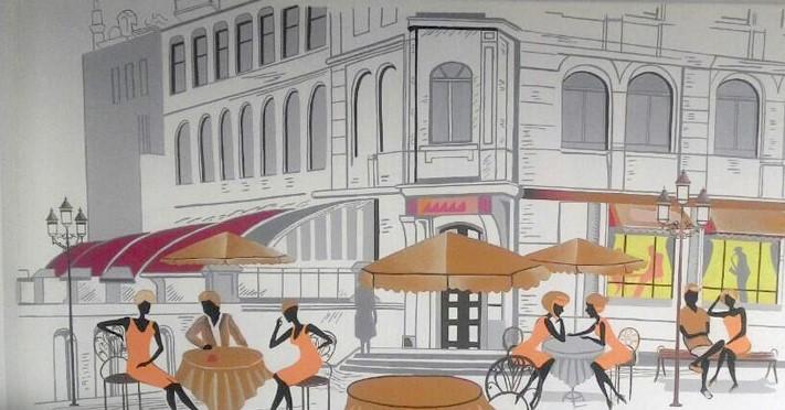 Gambar2 Lukisan Mural Untuk Cafe Di Dinding