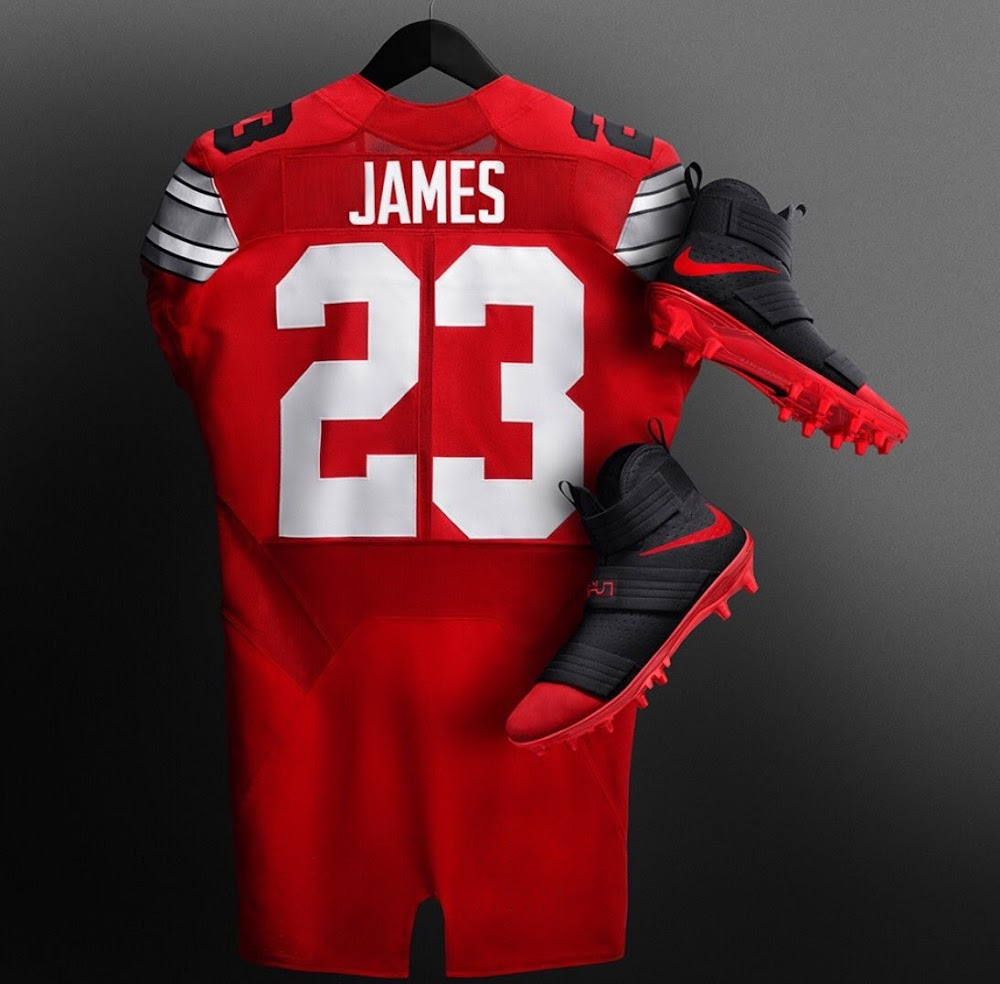 1a1f49e4a02 LeBron Equips Ohio State Players With His Nike Soldier 10 Cleats ...
