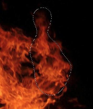 seleksi bagian tertentu dari api