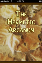 Cover of Anonymous's Book The Hermetic Arcanum the Secret Work of the Hermetic Philosophy