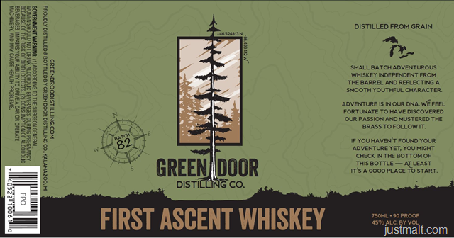 Green Door Distilling First Ascent Whiskey