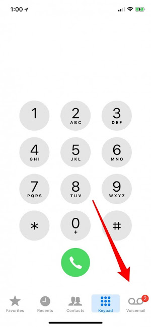 how to check voicemail on iphone