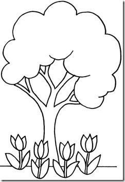 11flores primavera colorear  (36)