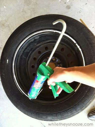Passe cola no pneu
