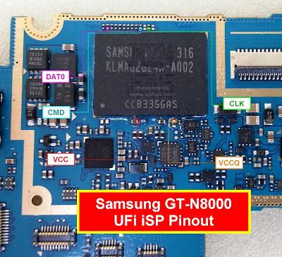 ISP PinOut Samsung GT-N8000