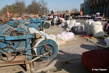 Rue Henan Dalu : confection de couettes en coton
