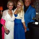 WWW.ENTSIMAGES.COM -   Sally farmiloe-Neville, Lana Holloway  and Jess Conrad  at    Lana Holloway - birthday party at Avista Bar, The Millennium Hotel Mayfair, London December 16th 2013                                                   Photo Mobis Photos/OIC 0203 174 1069