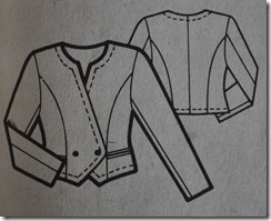 Burda jacket line drawing
