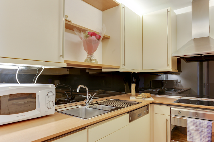 Fully equipped kitchen at Lexington Serviced Apartments, Old Street