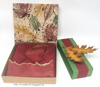 Linda Vich Creates: Vintage Leaves Card Set Giveaway. Rich Autumn hues ta1ke center stage in this card set using Vintage Leaves and a gate fold technique introduced by Jennifer McGuire. Be sure to enter the draw to win this set!