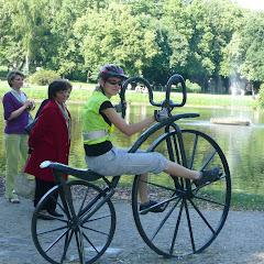 Park w Nałęczowie zwiedzaliśmy n a rowerach.