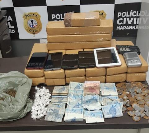 HOMEM É PRESO PELA POLÍCIA CIVIL COM MAIS DE 15 QUILOS DE MACONHA EM BACABAL