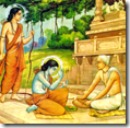 [Tulsidas with Rama and Lakshmana]