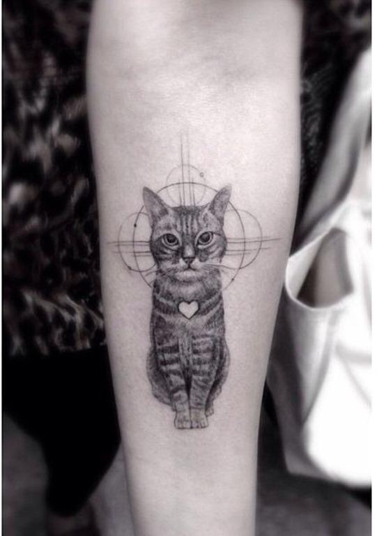 Este gato incrível tatuagem