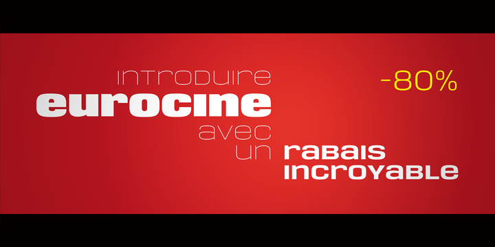Download Eurocine Font Family From Paulo Goode