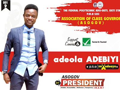 FEDPOLY ADO ASOGOV ELECTION: SAX ADEAYO, THE BEST ASPIRANT TO WATCH OUT FOR- POLY TV FACT CHECK