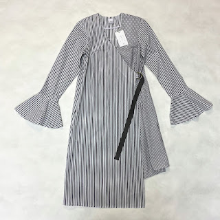 Second Sight NEW Cotton Striped Wrap Dress