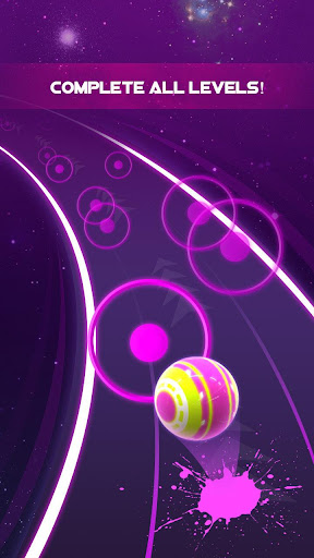 Dancing Neon Ball: Rush Road screenshot 3
