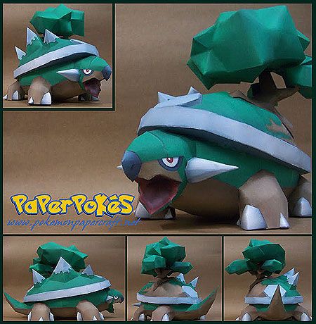 Pokemon Torterra Papercraft v2