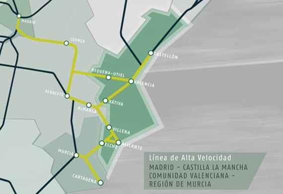 Avanzan las obras del AVE a Elche, la Vega Baja y Murcia