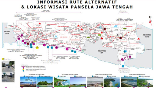 Rute Mudik Jalur Pansela Jawa Tengah Dari Peta Kemen PUPR