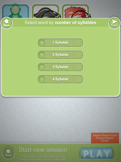 Articulate It Select the Number of Syllables