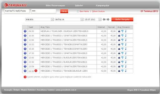 Antalya+Otobüs+fiyatları pamukkale