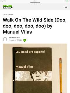 Manuel vilas Palabras en cadena Lou reed