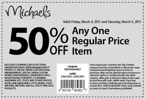 Michaels Coupon Codes, Printable coupons, and Promo Codes