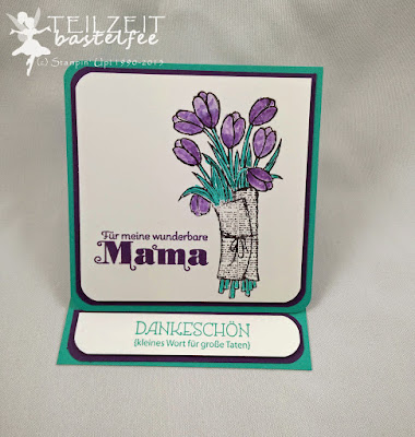 Stampin' Up! - In{k}spire_me Special, Mother's Day, Muttertag, Duftes Dutzend, Delightful Dozen, Tausend Dank, Lots of Thanks, Love is kindness, Envelope Punch Board, Blender Pen, Mischstift, Easel Card