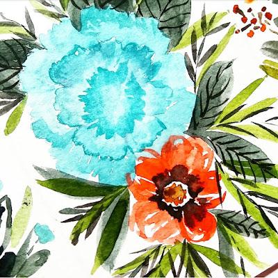flower in watercolor artzine indonesia