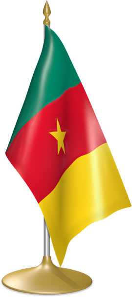 Cameroonian table flags - desk flags