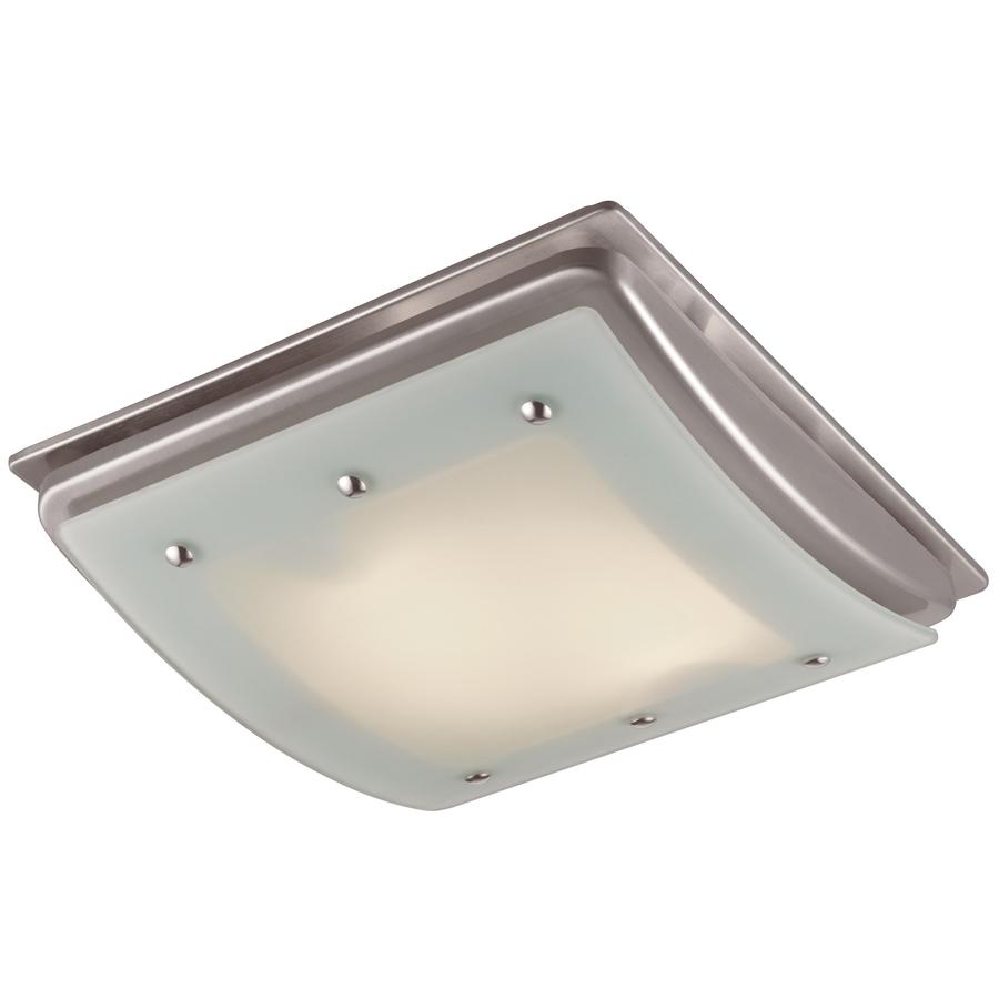 Shop Broan 3 5 Sone 70 Cfm Satin Nickel Bathroom Fan With: Home Design Ideas