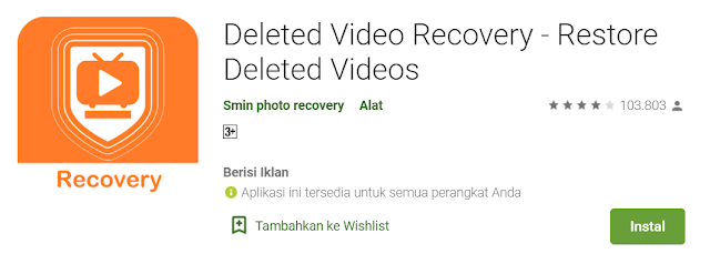 Pengembalian file video