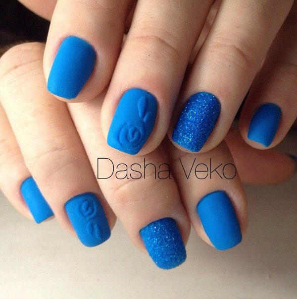 50 amazing blue nail art designs