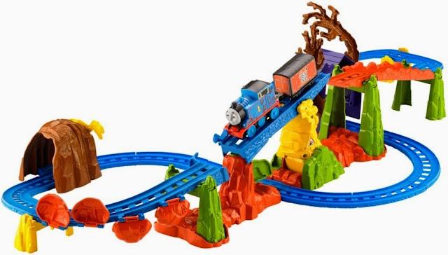 Bộ đồ chơi Tàu hỏa Thomas Mạo hiểm vượt đồi núi Fisher Price thú vị hấp dẫn