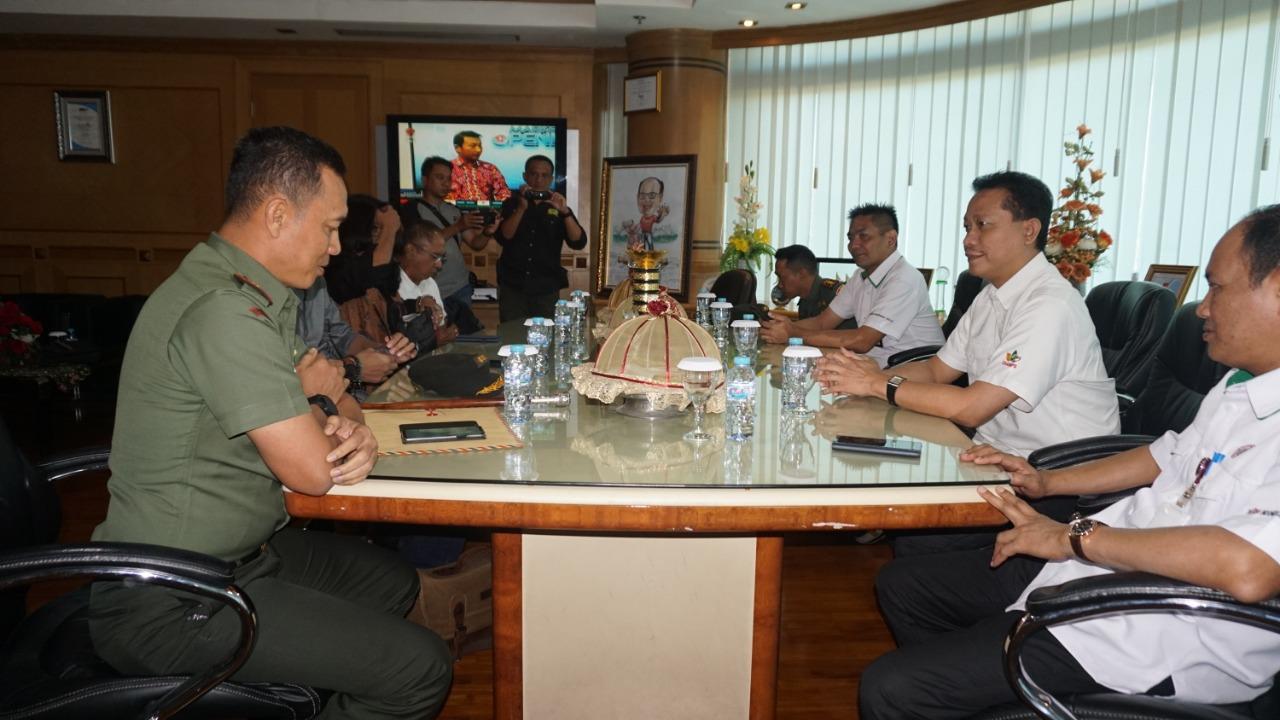 Dipimpin Danrem 141/Tp Tim Pendiri Musem Jenderal  M Yusuf Audiens Petinggi PT Semen Tonasa
