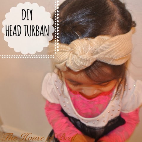 DIY: No sew head wrap (knotted)