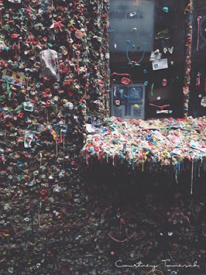 Courtney Tomesch Gum Wall Seattle Washington