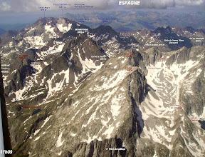 Photo: Vision aérienne sur la Grande et la Petite Fache