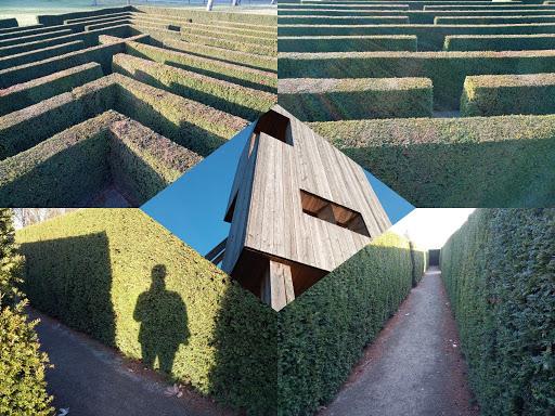 Fünf Ansichten auf und in einem Labyrinth