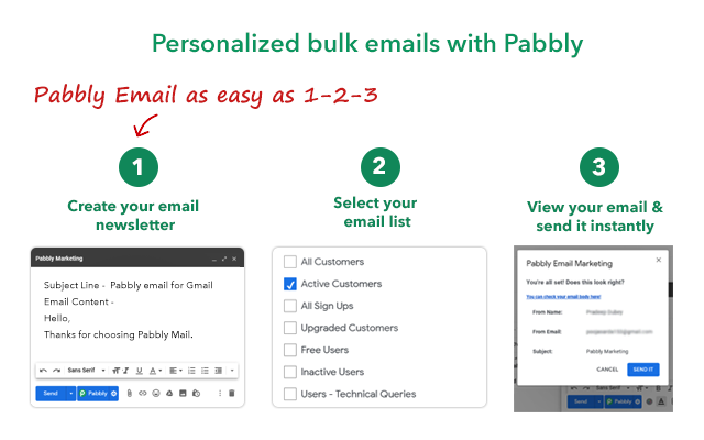 Mail Merge for Gmail - Pabbly Email Marketing