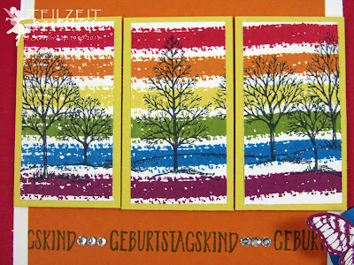 Stampin' Up! - In{k}spire_me #231, Sketch Challenge, Papillon Potpourri, Lovely as a Tree, Hallo, Hello, SAB 2016, rainbow, Regenbogen, Work of Art