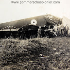 British heavy bomber Handley Page 0/400 shot down by Germans
